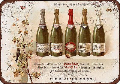 брошюра 1890-го с вином Райзлинг