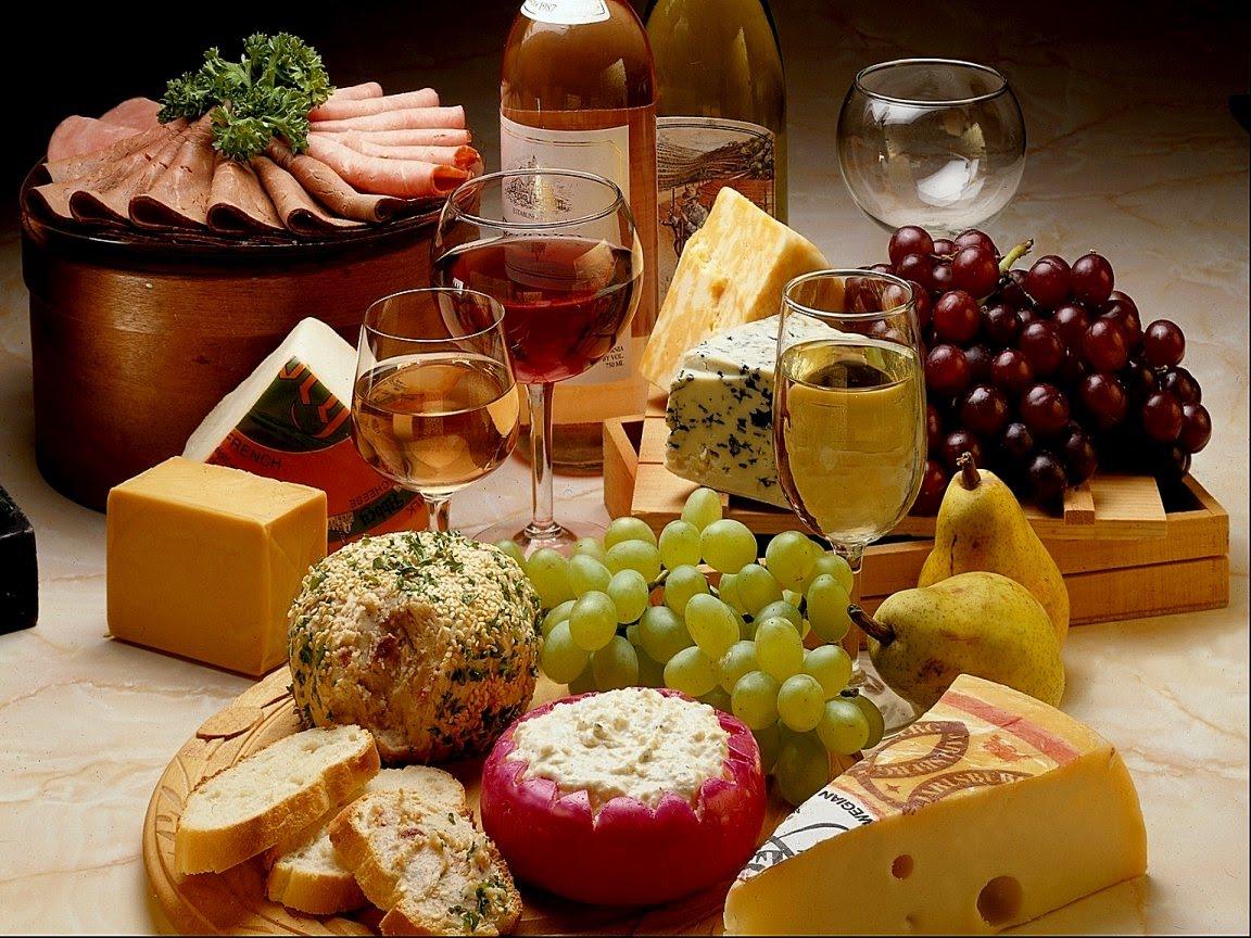 Выбор закуски к белому и красному вину