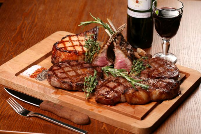 блюда под вино