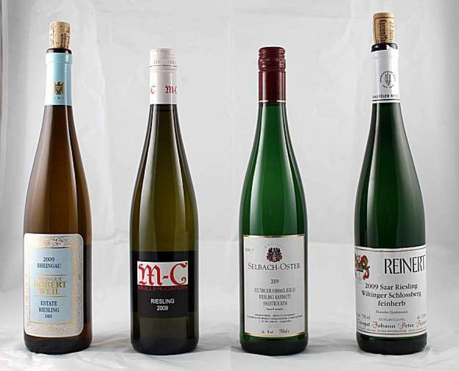 Немецкое вино из винограда Рислинг (Riesling)