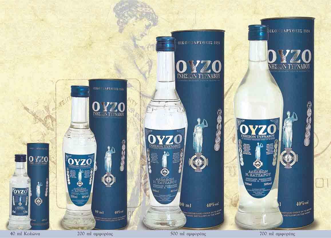 Греческий алкогольный напиток анисовая водка Узо